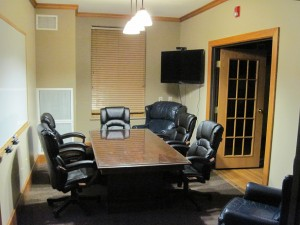 "Beta Sigma Psi's ""War Room"" - great for meetings, group projects, phone interviews, or individual studying."
