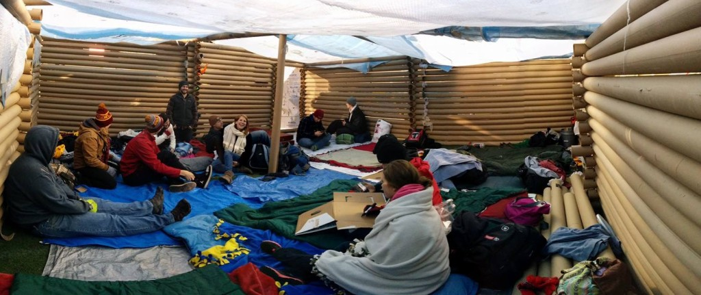 Members at Reggie's Sleepout supporting Iowa Homeless Youth Centers.