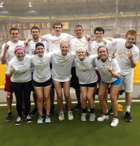 Members after winning a Greek Week tournament!